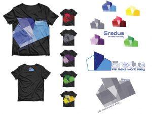 Redesign logotipa in oblikovanje majic, Gradus
