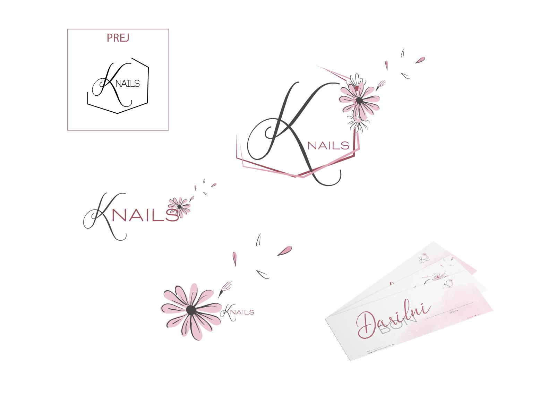 Redesign logotipa za kozmetični studio Knails